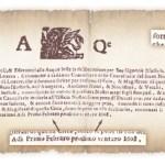 """Nell'immagine si può notare un documento che cita la già trascorsa data del 17 novembre 1608 e, in fondo, il """"Primo Febraro prossimo venturo 1608""""."""