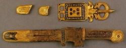 Una rara immagine a colori di alcuni oggetti del Tesoro di Agilulfo e Teodolinda (Foto: http://archeosciences.revues.org)