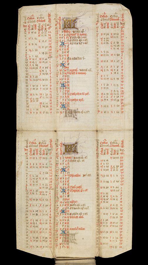 Un esempio delle pagine ripiegate tre volte (Foto: Wellcome Library, London)