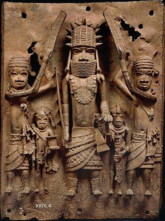 Uno dei numerosi Oggetti del Benin, placca in bronzo del VI secolo