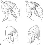 Spangenhelm e altri elmi dalla colonna traiana (Immagine da Simon James)