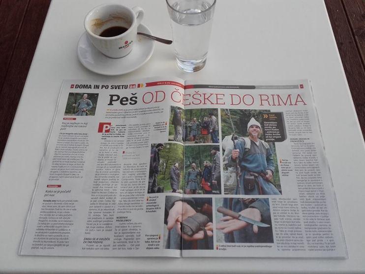 L'intervista a Karel pubblicata su una rivista (Foto: http://sagy.vikingove.cz/)
