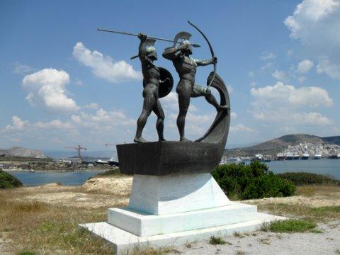 Ritrovato luogo dello schieramento navale greco nella battaglia di Salamina 480 a.C.
