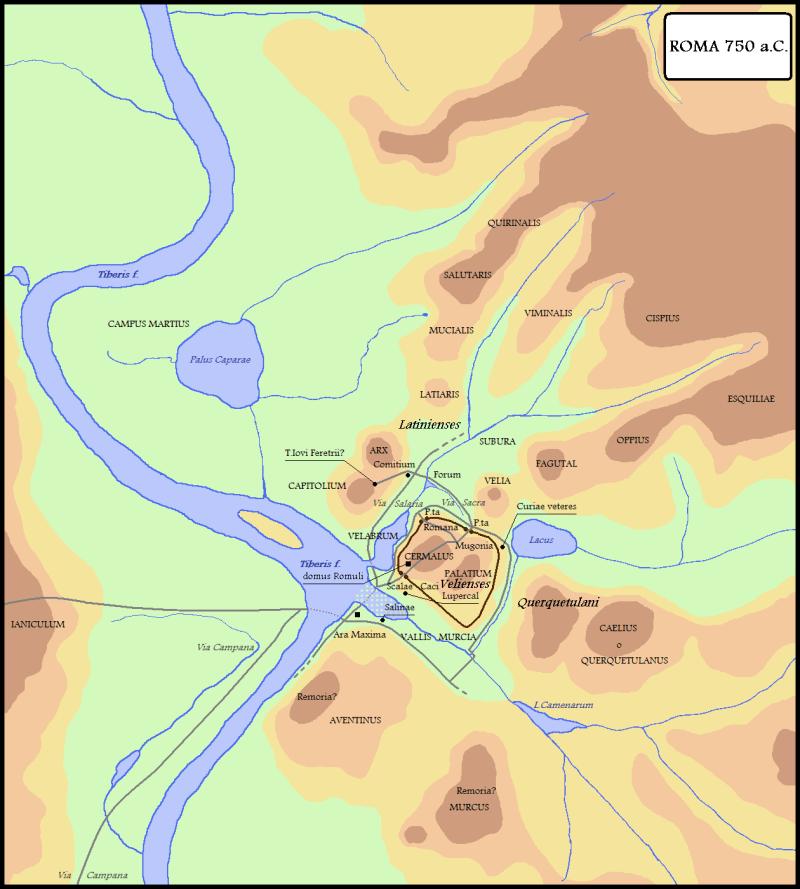 """La""""Roma quadrata"""" di Romolo 753 a. C."""