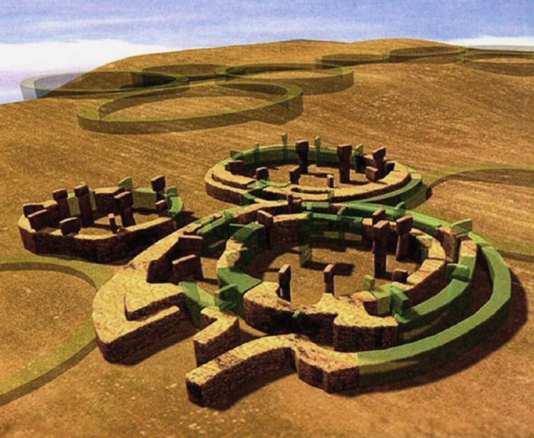 Una ricostruzione di come doveva apparire Gobekli Tepe