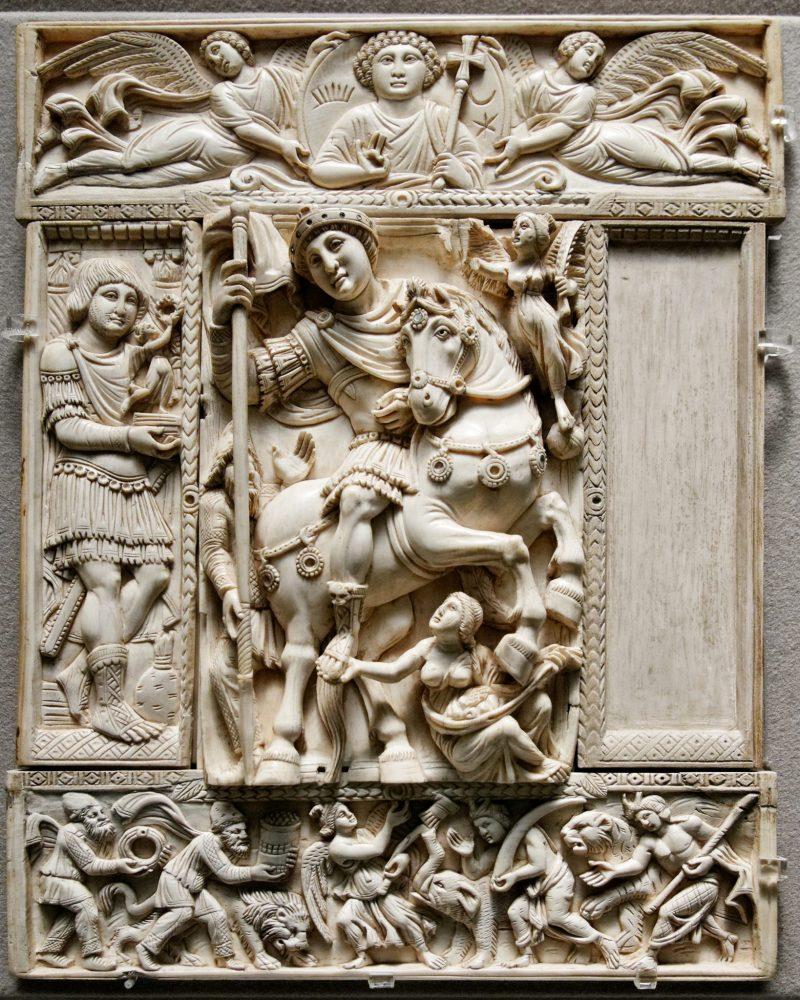 Avorio Barberini, opera di artisti costantinopolitani, VI secolo, Museo del Louvre