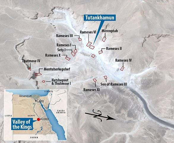 Valle dei Re nell'alto Egitto e tombe già scoperte.