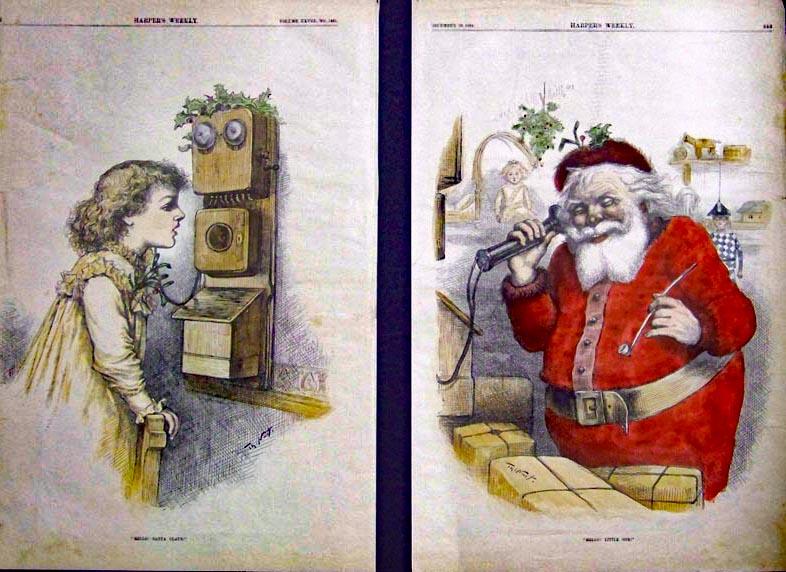 Due incisioni a colori apparse su Harpr's Weekly nel 1884