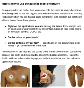 Earthing Patches Use