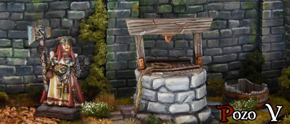 pozo de agua para wargames de fantasía