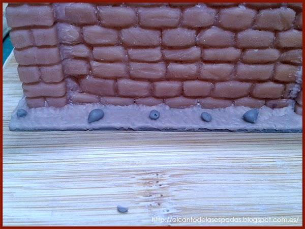 Super-Sculpey-Masilla-Clay-Base-Piedra-Muro-alto-Wall-High-Stone-Wargames-Warhammer-Escenografia-Scenery-Bolt-FOW-08