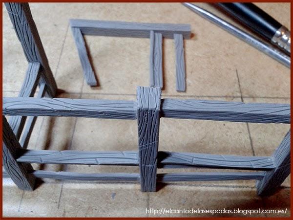 Super-Sculpey-Firm-Clay-Masilla-Techumbre-Roofing-Tejado-Rooftop-Stable-Stall-Establo-Escenografía-1650-Warhammer-Mordheim-Scenery-07