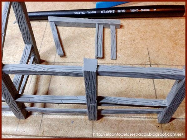 Super-Sculpey-Firm-Clay-Masilla-Techumbre-Roofing-Tejado-Rooftop-Stable-Stall-Establo-Escenografía-1650-Warhammer-Mordheim-Scenery-06