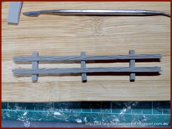 Super-Sculpey-Firm-Valla-Madera-Wooden-Fence-Warhammer-Scenery-Escenografia-Wargames-11