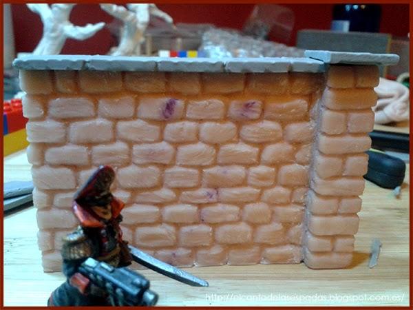 Super-Sculpey-Masilla-Clay-Base-Piedra-Muro-alto-Wall-High-Stone-Wargames-Warhammer-Escenografia-Scenery-Bolt-FOW-01