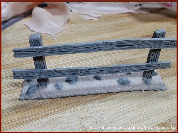 Super-Sculpey-Clay-Masilla-Valla-Madera-Peana-Wooden-Fence-Base-Warhammer-Scenery-Escenografia-Wargame-11