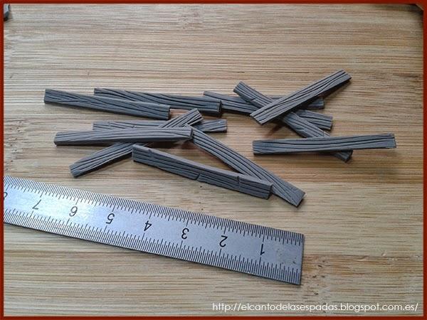 Super-Sculpey-Firm-Madera-Wood-Stable-Stall-Establo-Escenografía-1650-Warhammer-Mordheim-Scenery-10