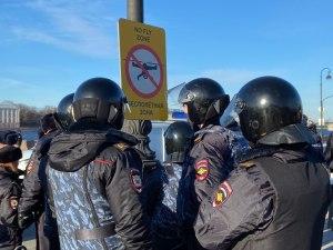 Полиция задержала участников митинга в Санкт-Петербурге