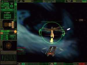 A Gorn battlecruiser attacking a space entity