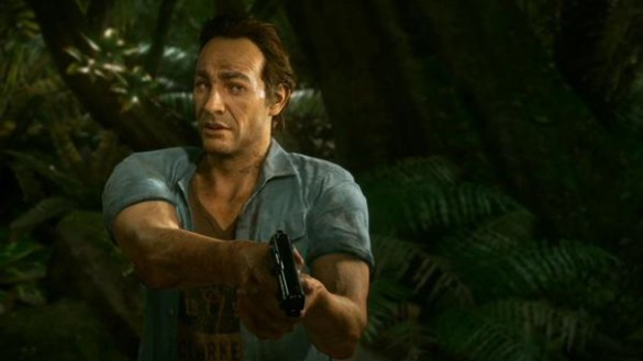 Introducing Sam Drake! Nathan Drake's brother...that was never discussed in the series before...