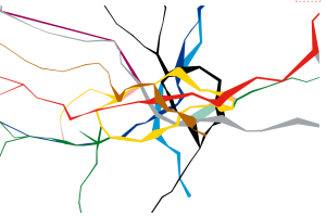interactivemap - New interactive Tube map reveals how busy each London Underground station is at peak times