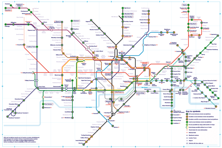 avoid the stairs tube map - Travelling by tube if you want to avoid stairs