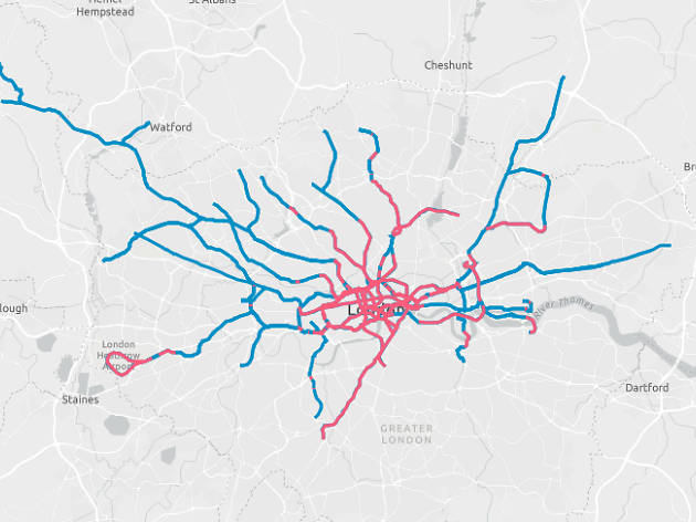 image - This interactive tube map shows which bits are actually underground