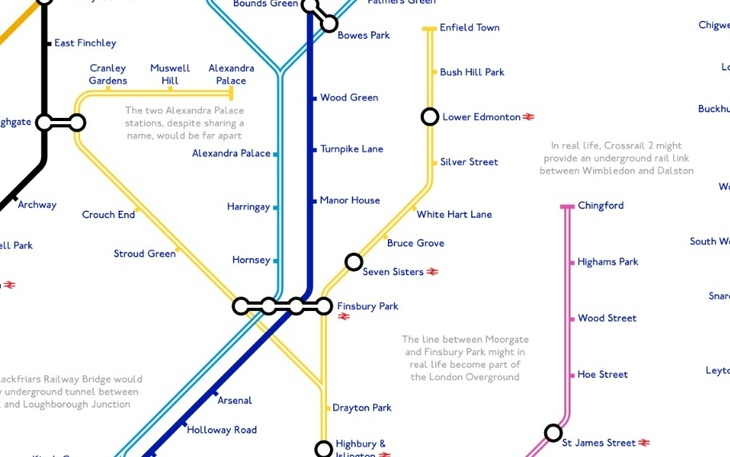 alex - A Tube Map That Never Happened, Based On Plans From The 1940s