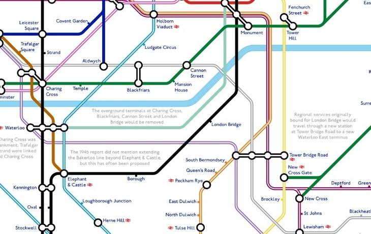 term - A Tube Map That Never Happened, Based On Plans From The 1940s