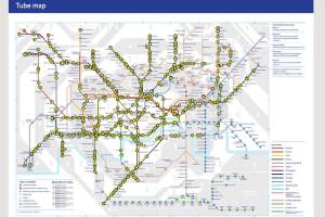 map1a - The Tube map that shows exactly where all trains are at any time on the London Underground