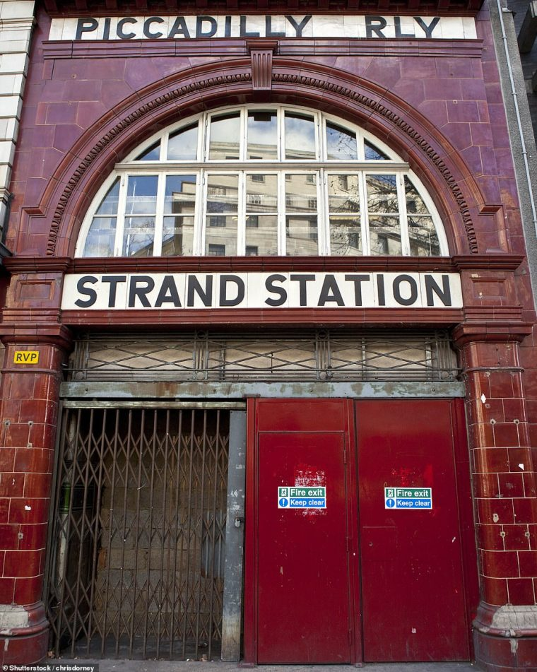 london underground ghost station strand station 818x1024 - London Underground map that shows every abandoned 'GHOST STATION'