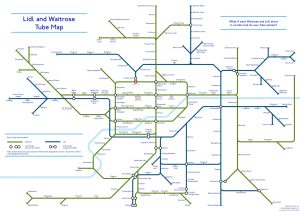 lidl waitrose tube map - A Tube Map Of Every Waitrose And Lidl In London