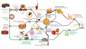 wren kitchens food tube map large - Alternative Tube Map: Quirky Christmas Food