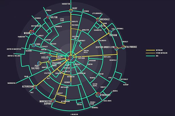 0 Map1 1 - The 'tube map for Greater Manchester' that reveals the future of our transport network