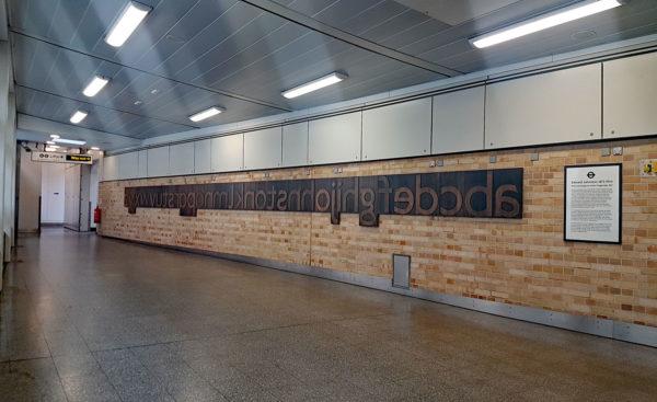 farringdon johnston font 01 600x367 - London Underground unveils a Johnston font memorial