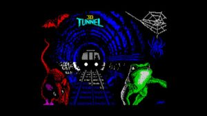 Tunnel3D loadingscreen 600x337 - The year a London Underground train appeared in a ZX Spectrum