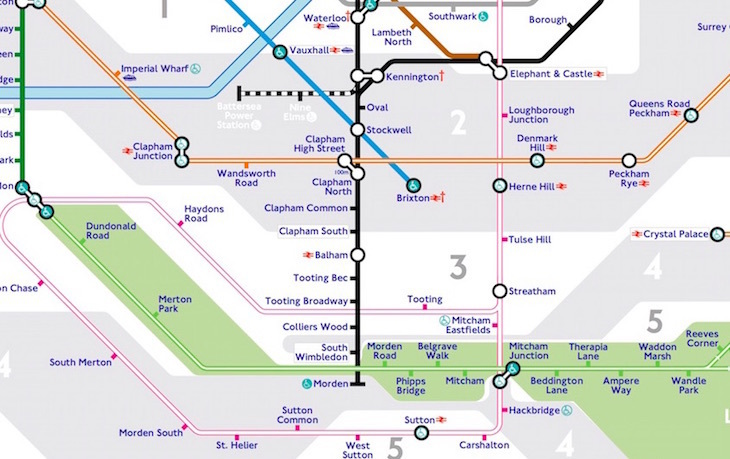 pink line - The Tube Map, Redesigned By A Tooting Resident