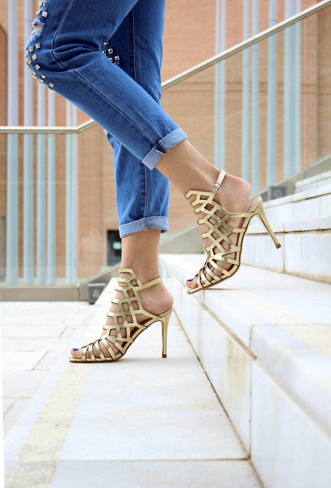gold shoes trendy styles summer