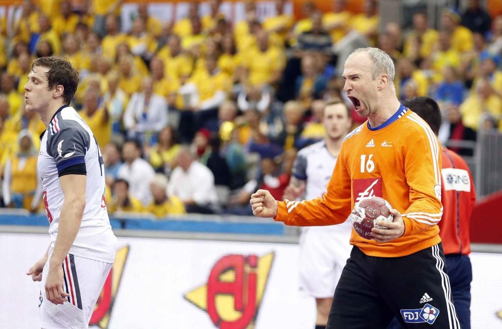 Thierry Omeyer exulte face à la Suède