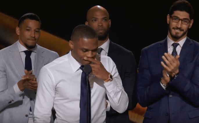 Le discours de Russell Westbrook pour son trophée de MVP
