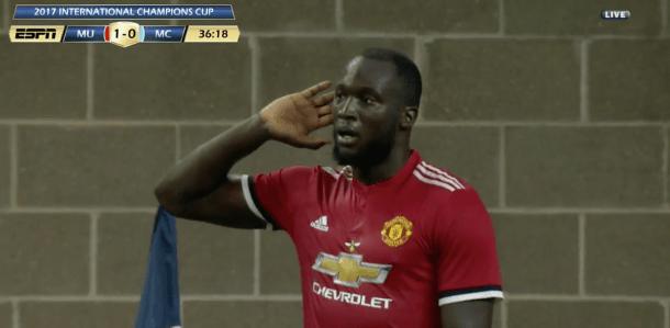 Romelu Lukaku marque un superbe but contre Manchester City