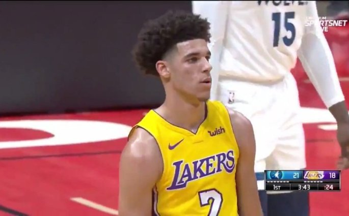 Lakers Wolves Lonzo Ball