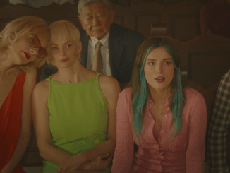 A still from the movie 'Habit' starring Bella Thorne, Paris Jackson, Hana Mae Lee, and Gavin Rossdale. Image courtesy of Lionsgate.