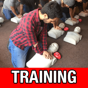 Training - Learn more about our training classes including Emergency Medical Technician, CPR, and First Aid.