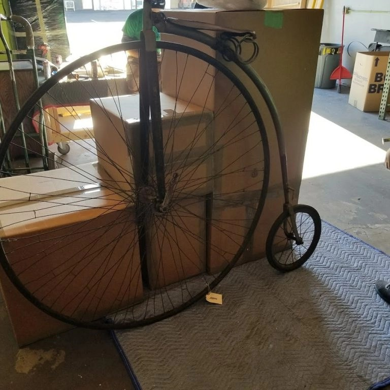 antique bike ship and pack