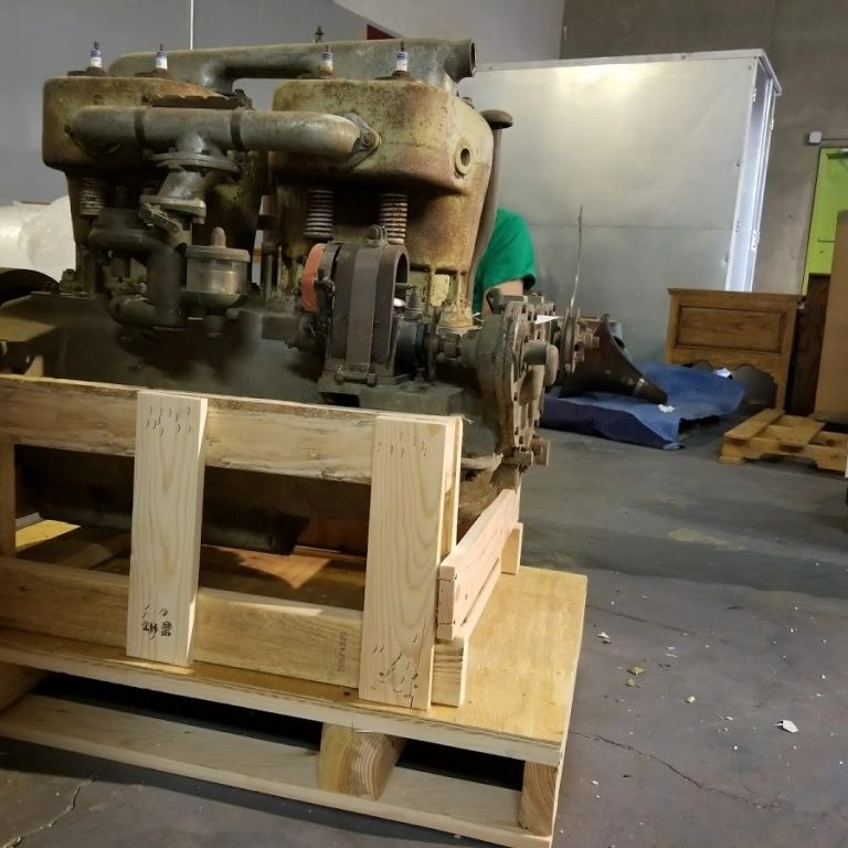 motor engine crating shipping local service