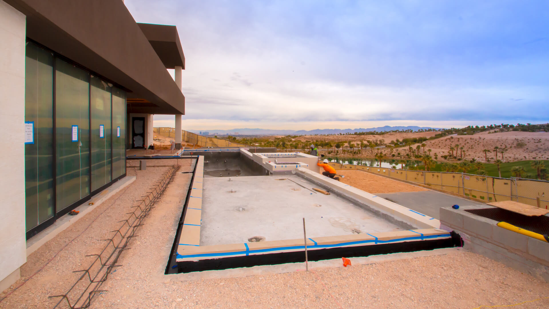 Custom Featured Swimming Pool Construction Project - Clarity Pool Services of Las Vegas, Nevada