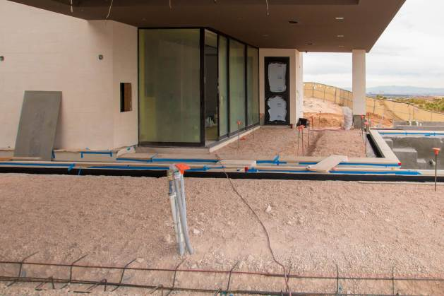 Custom Swimming Pool Design with Small Overpass Bridge Area - Clarity Pool Service of Las Vegas, Nevada