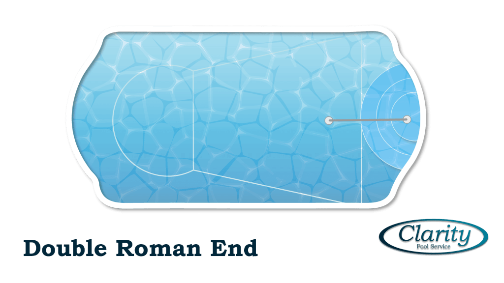 Double End Roman Shape Swimming Pool Shape COnfiguration - Swimming Pool Sample by Clarity Pool Service of Las Vegas, Nevada
