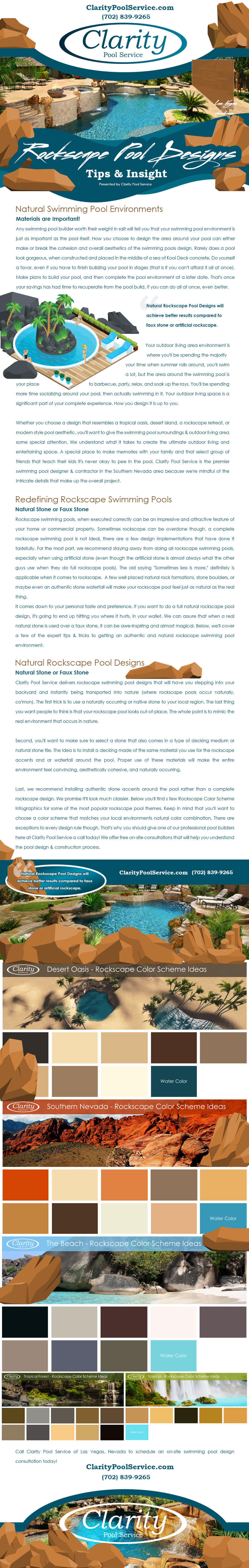 Rockscape Swimming Pool Construction Tips & Tricks Infographic